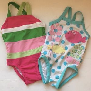 2 swimsuits size 6-12 months